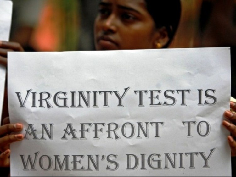 Virginity Testing Protest Photo