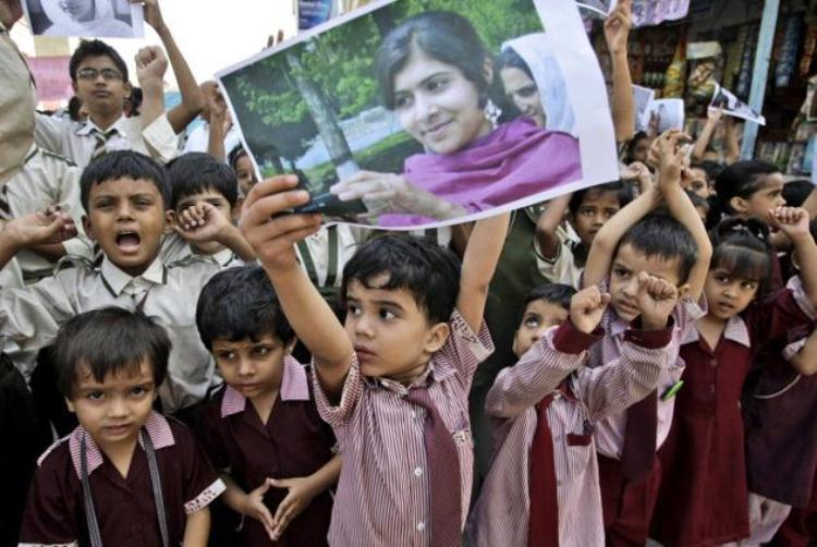 Malala protestors