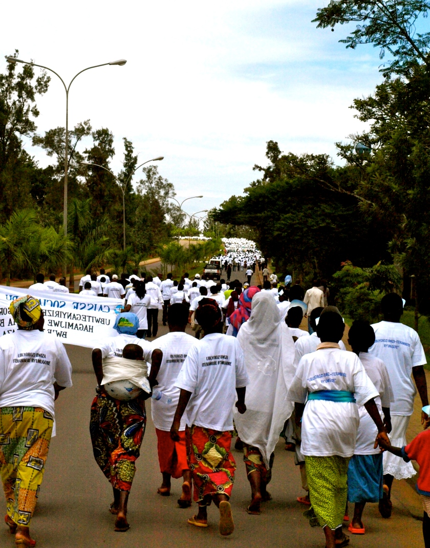 Thousands of Rwandans participated in the One Million Women and Girls' March for a Better Future in Kigali, Rwanda in May, 2010.