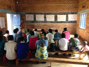 women in a cooperative in Ruli learning about story of self