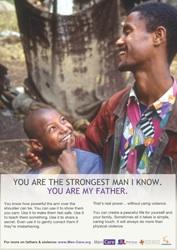 A MenCare campaign poster