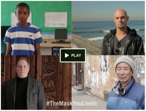 """Image from the trailer for """"The Mask You Live In"""""""