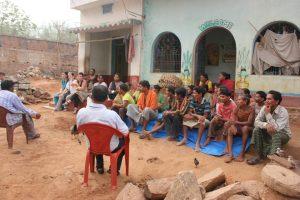 Talking with Gram Vikas communities