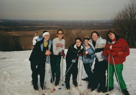 Me and my friends on a ski trip