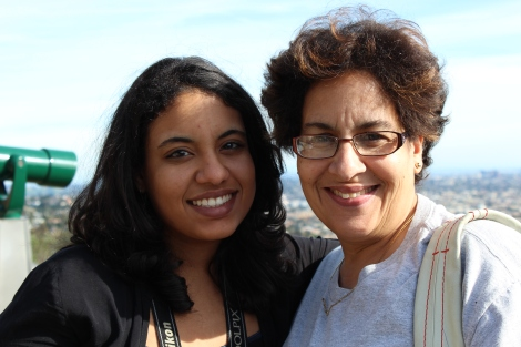 Farah with her mother