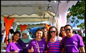 Justine with a grassroots women's organization in Penang, Malaysia working towards gender budgeting
