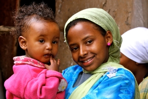 Children in Ethiopia, where PMC runs radio programs