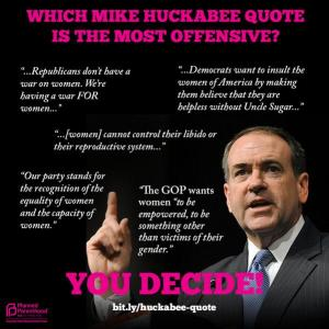 Planned parenthood-huckabee quotes
