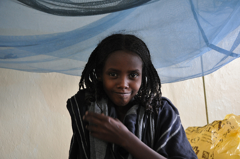 Ten year old Sadiye Abubakar, admitted to Barbara May Hospital in Mille, Afar with her mother Sofya, unable to pass urine for more or less a month. Photo Credit: UNICEF Ethiopia, Colville-Ebeling