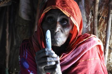 Seventy-year old Kadiga has been circumcising 40 years ago.  Photo Credit: UNICEF Ethiopia, Colville-Ebeling