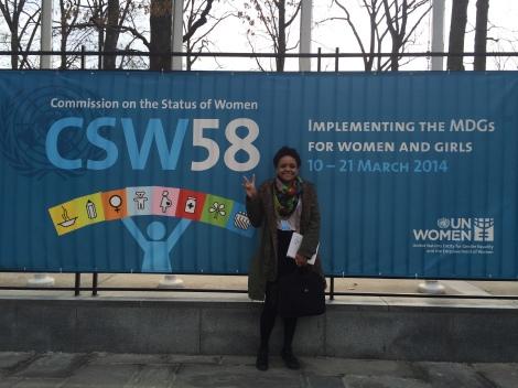 Girls' Globe blogger Marcia Banasko at CSW58 in New York City