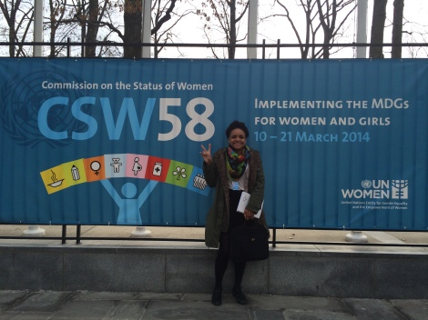 Girls' Globe blogger Marcia Banasko at CSW58 in New York City