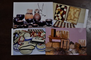 Handicrafts made by the members of the Women's Savings Effort, Wilpotha