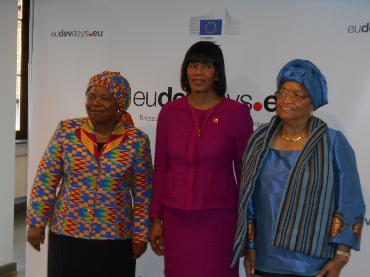 Here I took a picture of them at the EU-Development days on the eve of the WIP Summit. I went there to secure H.E Ellen Johnson's participation at the summit and you can all imagine my joy.