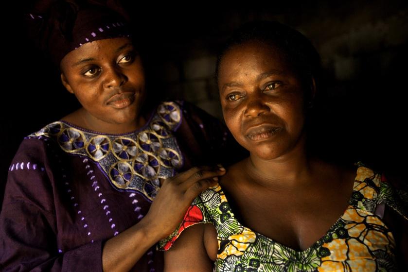 Odette Kusiku Mbaku Maswaku, 40 years old. Odette was in labour for 3 days and developed obstetric fistula.  Photo Credit: Robin Hammond/Panos. Kinshasa, DR Congo. March 2010 - UNFPA