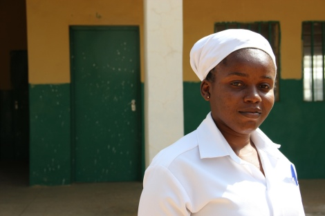 Njideka is a midwife in northern Nigeria – one of the most dangerous places in the world to give birth. Here, one in 23 women die in childbirth and one in ten newborns do not survive. Picture: Lindsay Mgbor/Department for International Development