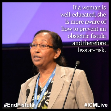 Sister Marit Legesse speaking at the ICM Congress.  Photo Credit: Johnson & Johnson