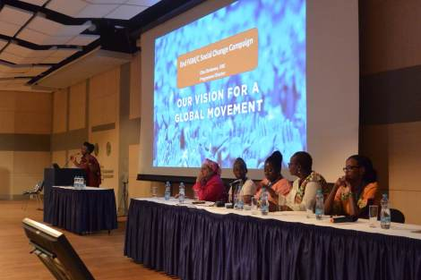 Efua Dorkenoo, Programme Director for End FGM/C Social Change Campaign speaks at ICM 2014
