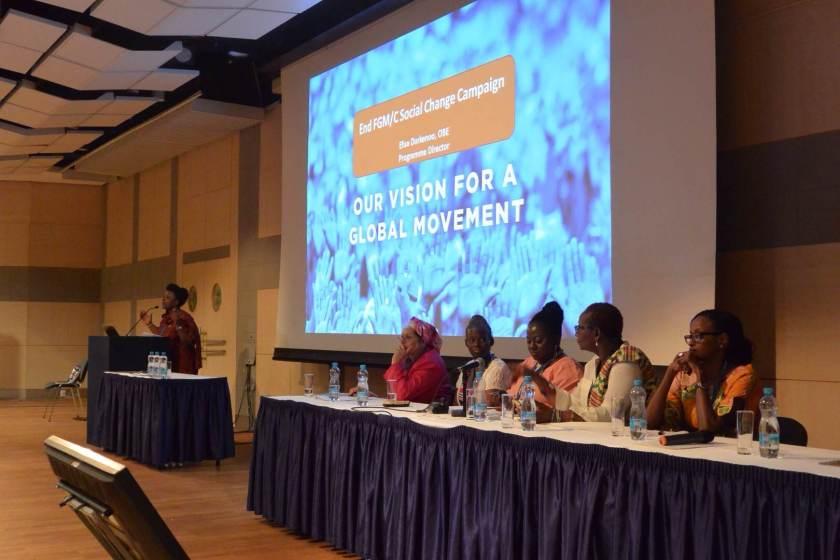Efua Dorkenoo, Programme Director for End FGM/C Social Change Campaign speaks at ICM 2014