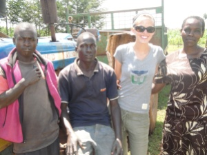Girls' Globe's Elisabeth Epstein and Kenyan CHWs