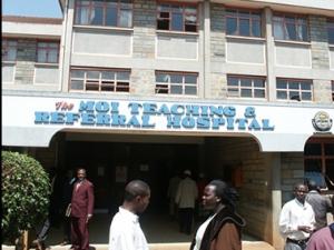 Entrance to Moi Teaching and Referral Hospital in Eldoret, Kenya. Image c/o Indiana University Medical School.