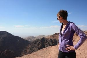 Overlooking the mountains in Petra, Jordan