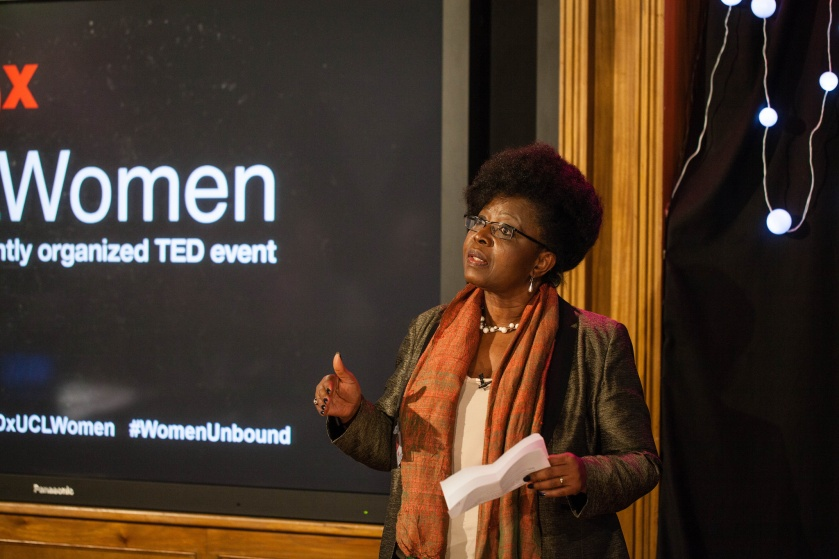 Efua Dorkenoo at TEDxUCLWomen, 6th December 2013. Photo: Upi Sandhu