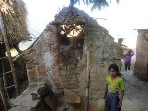 Chhaupadi goth destroyed by the Moaists in efforts to abolish the tradition; Photo c/o Aditi Sharma