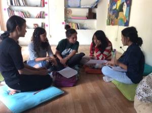 women lead girls