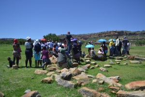 A community discussion about gender based violence. Photo Credit: Help Lesotho