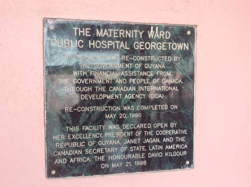 Sign outside GPHC's maternity ward; Image c/o Elisabeth Epstein