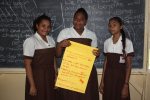 Students share what empowerment means to them; Image c/o Elisabeth Epstein