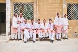 Pakistani midwives. Photo courtesy of Ali Khurshid/MCSP