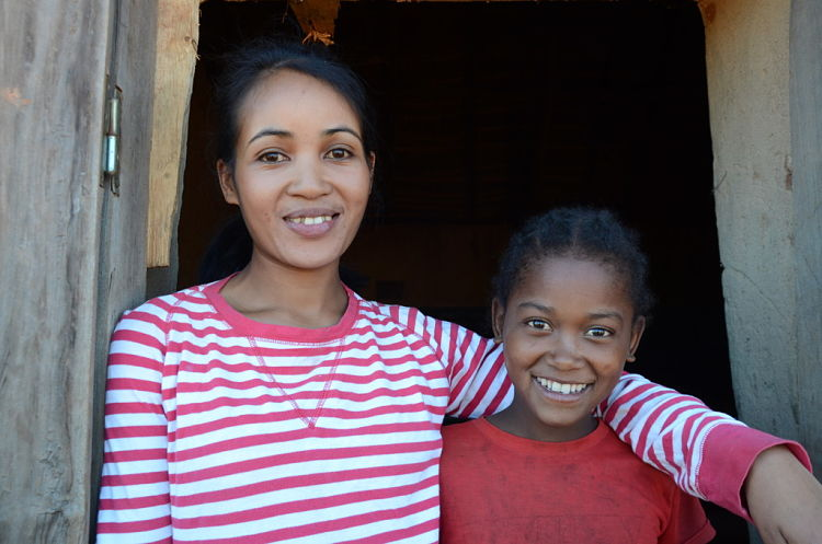 Ze's teacher Chantel is happy to have Ze back at school; WaterAid/ Ernest Randriarimalala