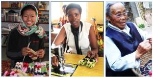 Women making baby booties. Photo Credit: Gendercide Awareness Project