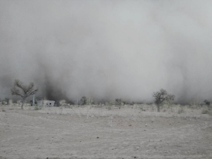 A recent storm which lasted 5 days bringing cold air to the desert. Photo Credit: EEI