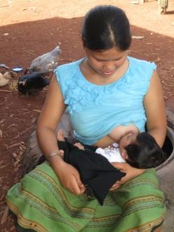 Breastfeeding Mom, Tahoy District, Salavan, Laos