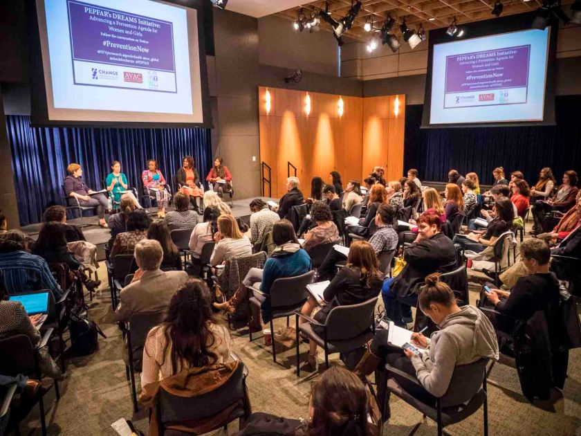 Panel Discussion on PEPFAR's Dreams Initiative, Advancing a Prevention Agenda for Women and Girls.   PHOTOS/John Nelson