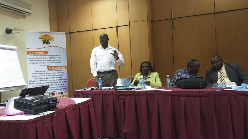 Director of Public Health in Nakur County Speaks at a Consultative Forum on unsafe abortions hosted by Dandelion Kenya
