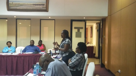 Officer in Charge of Adolescent and Youth SRHR in Nakuru speaks at Consultative forum on SRHR hosted by Dandelion Kenya