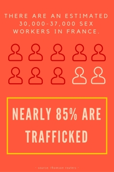 There are an estimated30,000-37,000 sex workers in france.